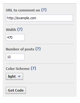 Регистрация сайта в facebook